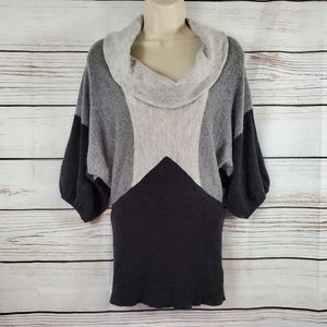XXI | Angora Blend Colorblock Cowlneck Sweater